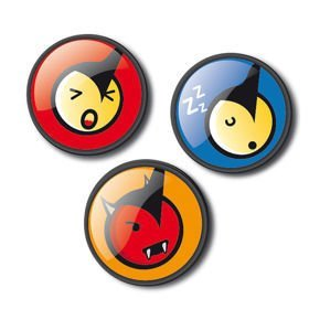 Broszki PINS Emoticons Fun do plecaka Nikidom Roller
