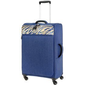 IT Luggage The-Lite Denim Zebra średnia walizka