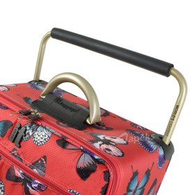 IT Luggage World's Lightest Red Butterfly zestaw walizek / komplet podróżny