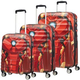 American Tourister Wavebreaker Disney zestaw walizek / komplet / walizki na 4 kółkach / Iron Man Close-Up