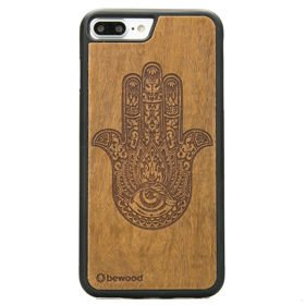 Bewood Hamsa Imbuia etui na telefon iPhone 7 Plus / iPhone 8 Plus