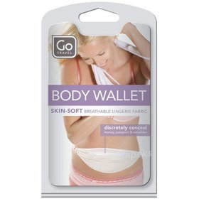 Go Travel DG/599 saszetka podróżna biodrowa / ultra cienka / BODY POCKET
